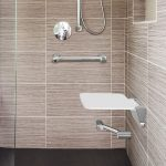 Calibre Corner Grab Rail Foot Rest and Shower Seat
