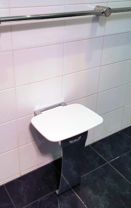 Liberty Fold Up Shower Seat & Calibre Ergo Grab Rail