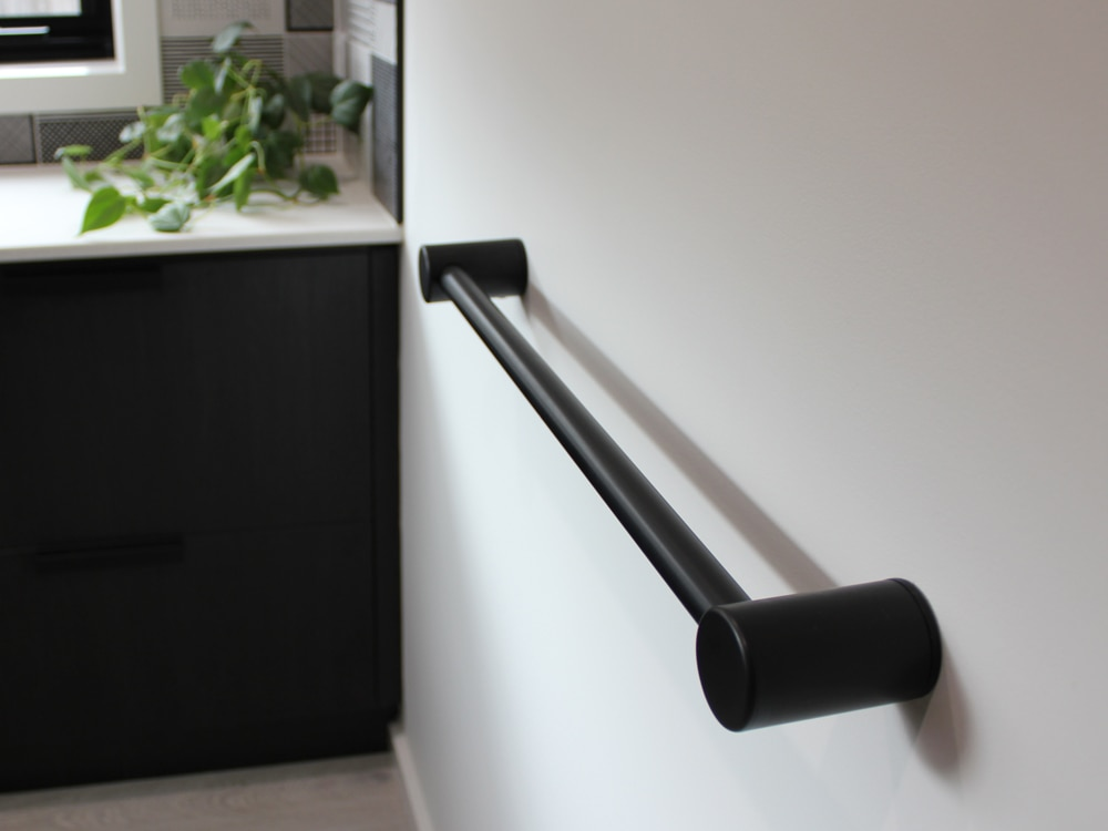 Avail attractive matt black towel rail
