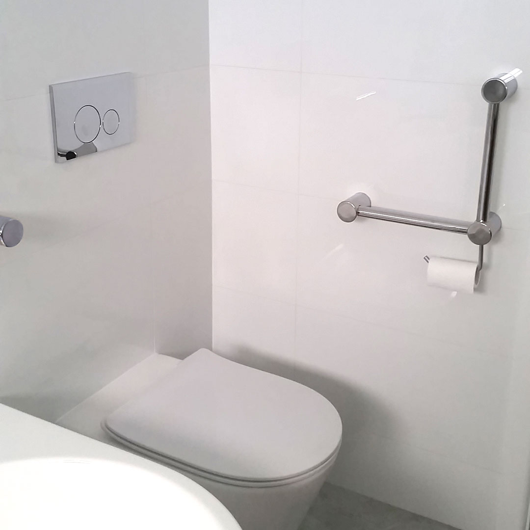 Calibre Angled Grab Rail Toilet