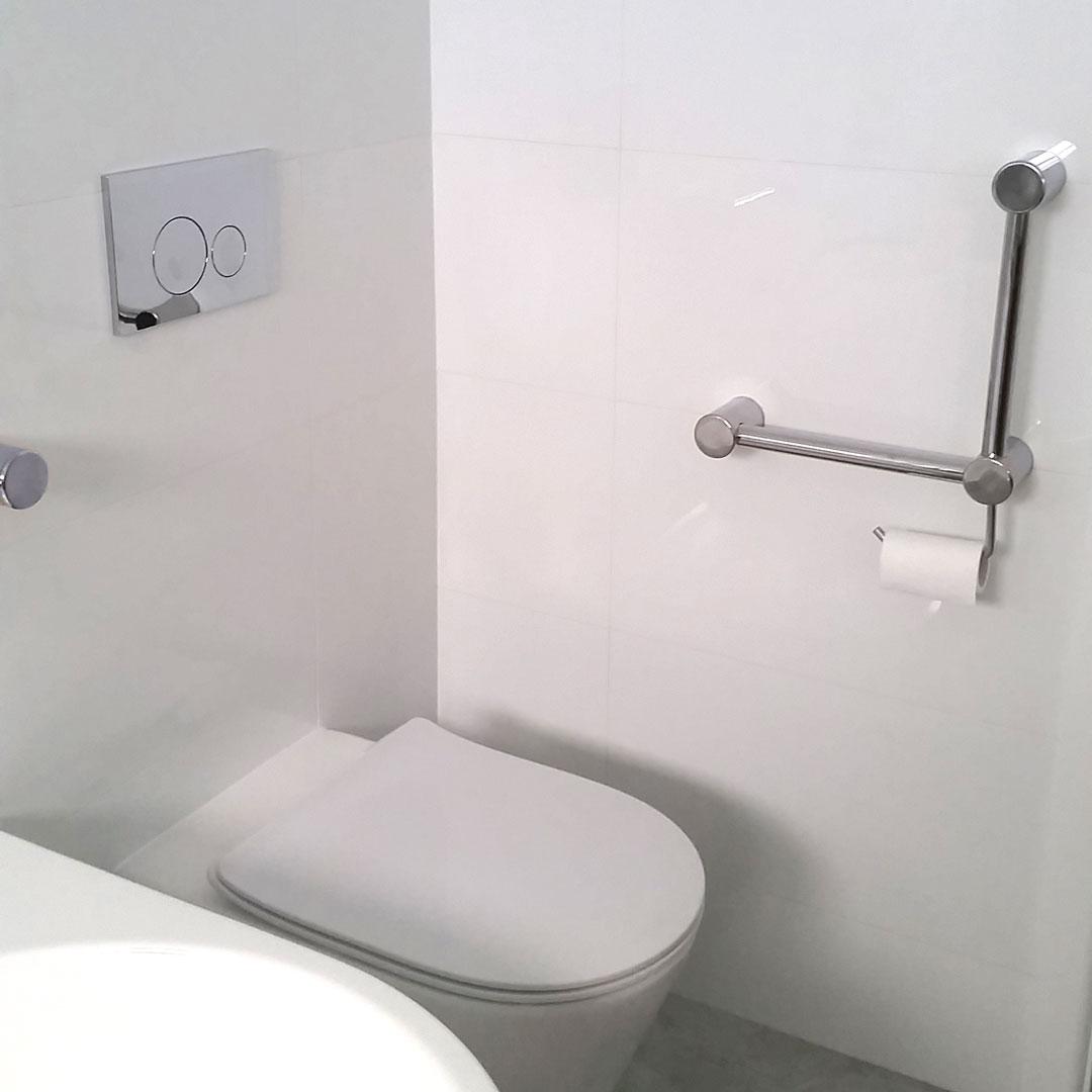 Calibre Angled Grab Rail Toilet