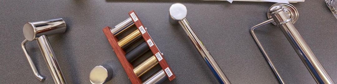 Avail Bathroom Grab Rails Options Brushed Brass Matt Black Stainless Steel
