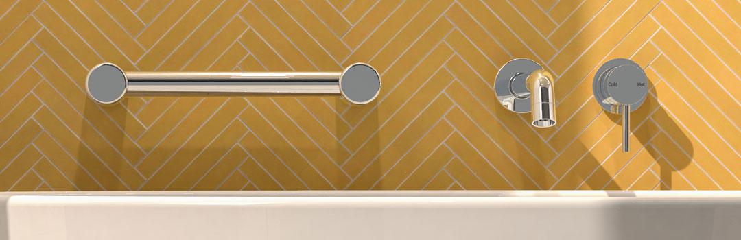 Avail Calibre Chrome Bath Grab Rail