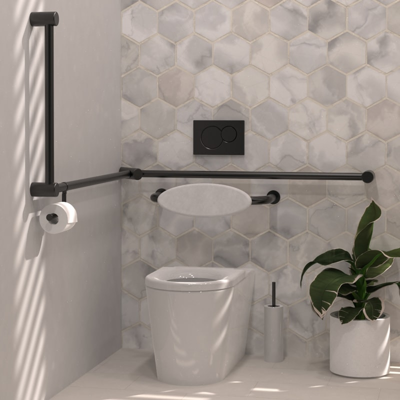 Avail Toilet Grab Rail and Back Rest AS1428