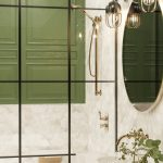 Glance Gold Provincial Grab Rail and Shower Set Accessible AS1428 Bathrrom