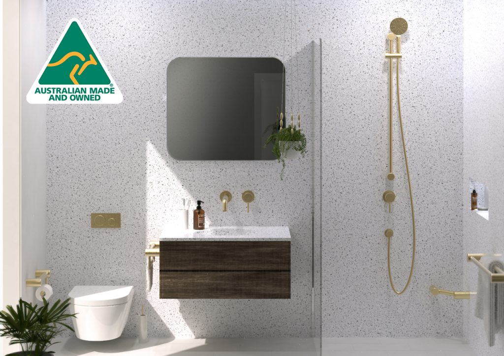 Avail Calibre Brushed Brass and Brushed Gold Grab Rails Accessible Bathrooms Australian Made
